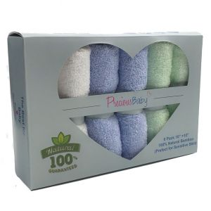 Baby Wash Cloth Blue 6Pk