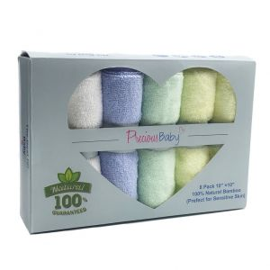 Baby Wash Cloth Multi 6Pk