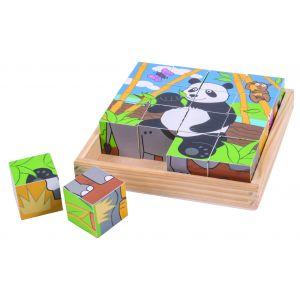 Wild Animal Cube Puzzle