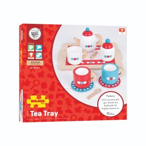 Tea set on a tray