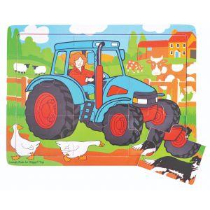9 Piece Tray Puzzle - Tractor