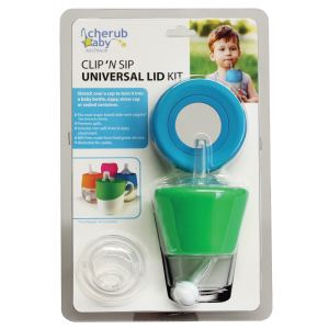 Clip N Sip Silicone Lid Blue/Green