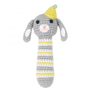 Crochet Rattle - Racing Rabbit