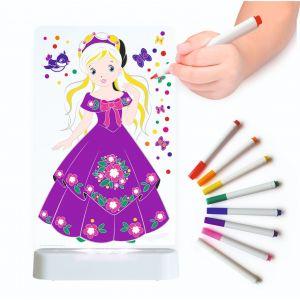 LED Colour Me Night Light (USB/Battery) - Princess