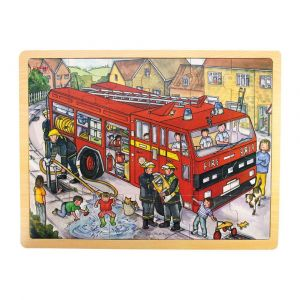 24 Piece Puzzle Tray - Fire Engine