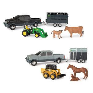 John Deere Pickup and Livestock Trailer